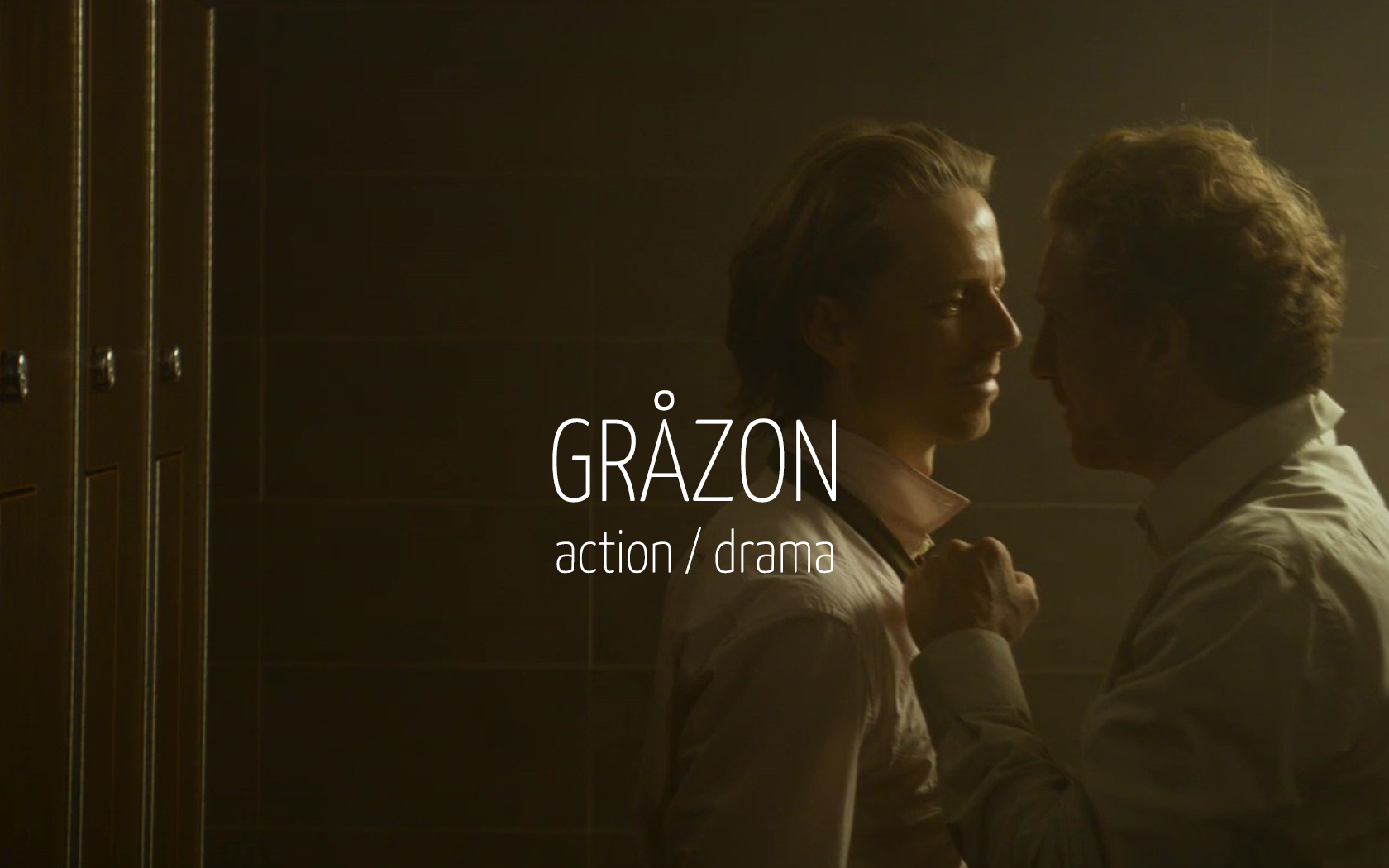 Scandinavian actor Fredrik Wagner as detective inspector in criminal drama film Gråzon