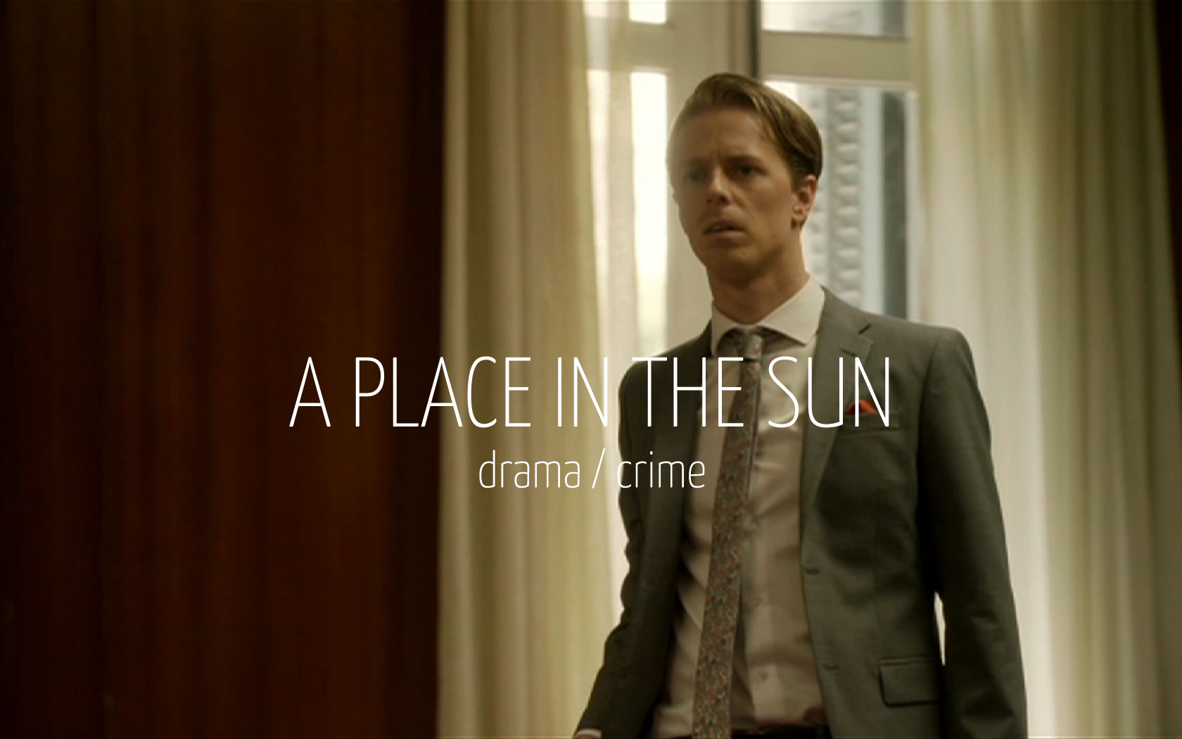 Scandinavian actor Fredrik Wagner as lawer in criminal drama film A place in the sun