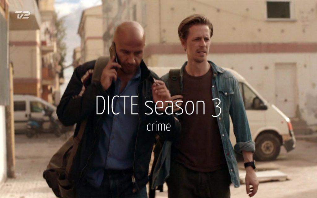 Scandinavian actor Fredrik Wagner as journalist in drama TV-series Dicte season 3 with Dar Salim & Dulfi Al-Jabouri