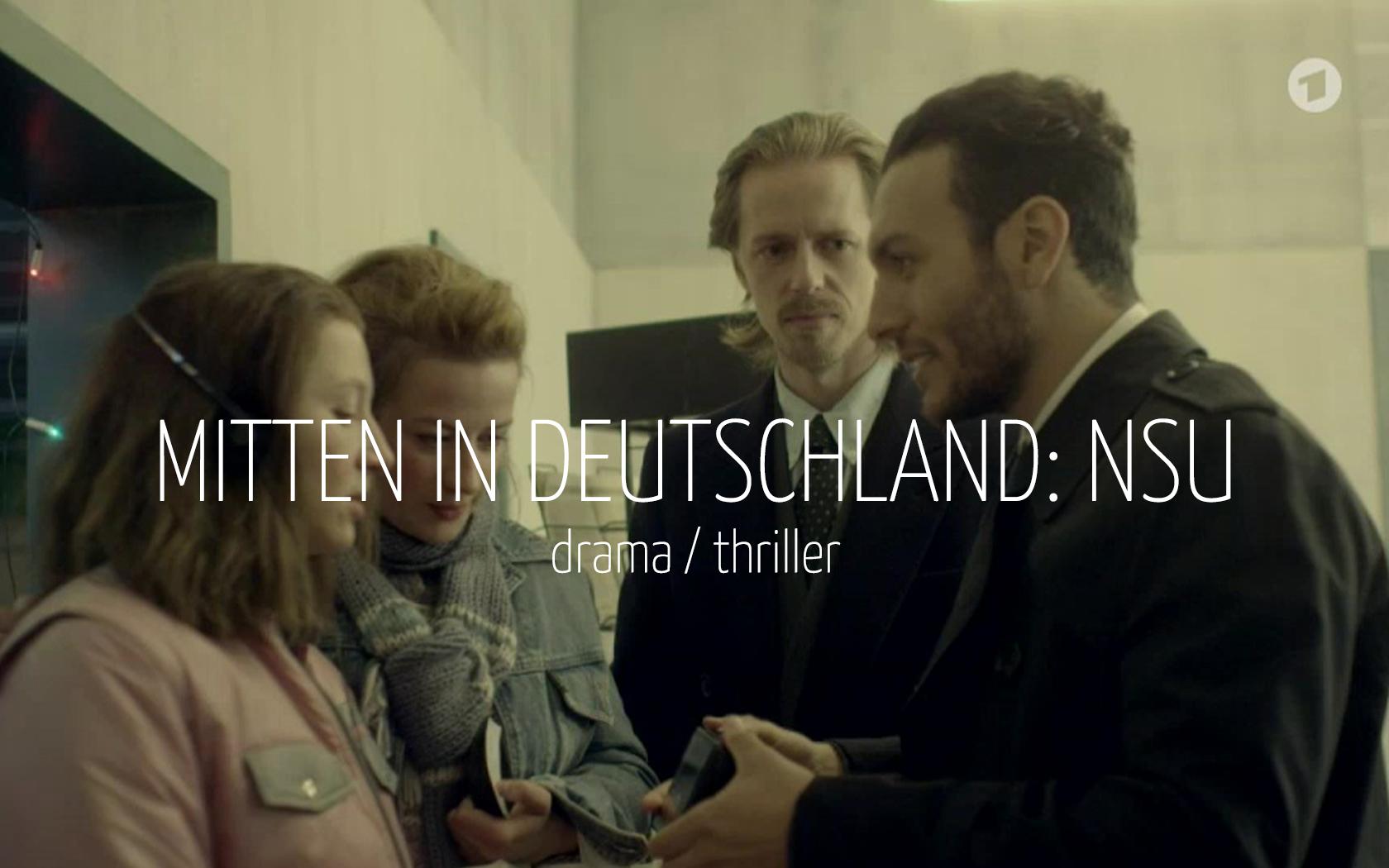Scandinavian actor Fredrik Wagner as scientologist in drama film Mitten in Deutchland: NSU with Anna Maria Mühe, Nina Gummich and Angus McGruther