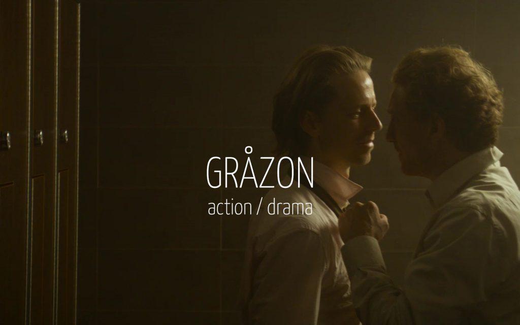Scandinavian actor Fredrik Wagner as detective inspector in criminal drama film Gråzon