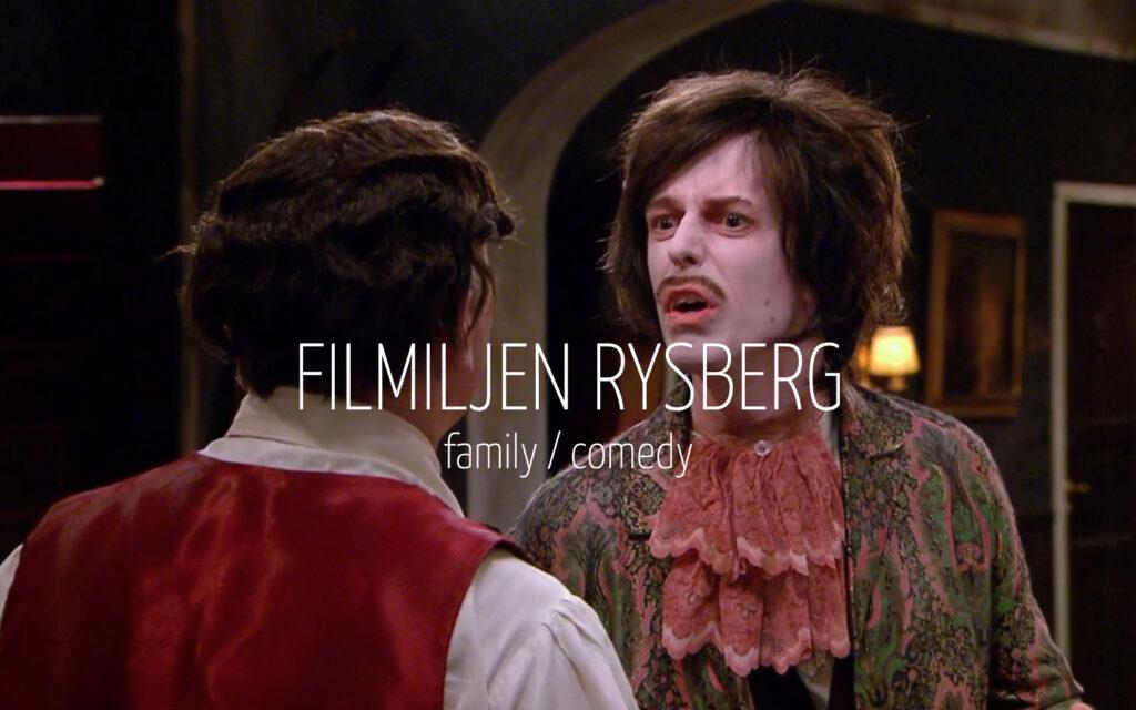 Scandinavian actor Fredrik Wagner as vampire magician in family comedy TV-series Familjen Rysberg