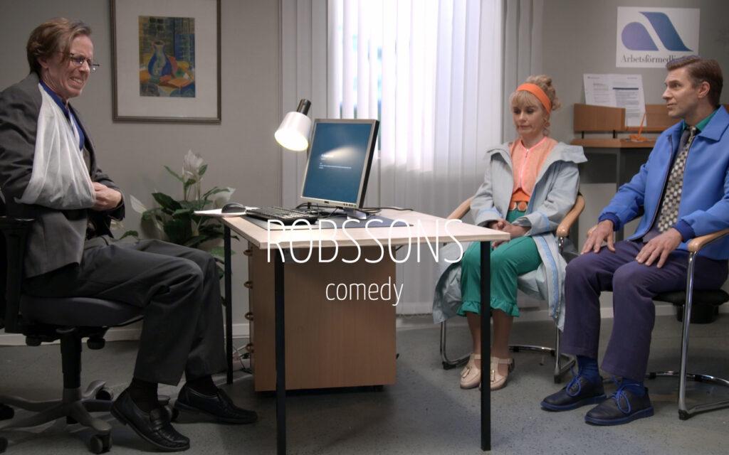 Scandinavian actor Fredrik Wagner as Janne in comedy TV-series Robssons
